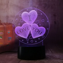 New 2019 Girl LOVE Balloons Heart Shape 3D LED Night Light Romantic Desk Table Lamp HOT Wedding Decoration Lovers Couple Gift
