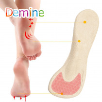 Demine 3/4 Length Silicone Gel Insoles Orthopedic Massage Insole for Women High Heel Arch Support Insert Pads Lady Heels Cushion