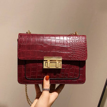 Stone Pattern Crossbody Bags For Women 2019 Fashion Small Solid Colors Shoulder Bag Retro Chain Flap Female Handbags and Purses