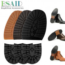 BSAID 1 Pair Rubber Shoe Outsoles Wearproof Nonslip Snow Hiking, DIY Heel/Forefoot Shoe Sole Pads For Men Leather Business Shoes