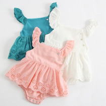 Baby Clothing Princess Toddler Romper 2019 Summer Baby Girl Rompers Lace Hollow Out Jumpsuit Princess Dress Newborn Baby Clothes