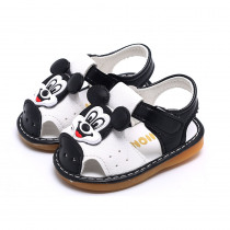 New Children PU Leather Baby Infant Girls Boys Sandals Summer 0-1-2 Years Old Soft Sole Kids Toddlers Cute Cartoon Shoes