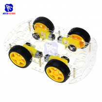 4WD Robot Smart Car Chassis Kits with Speed Encoder for Arduino 51 M26 DIY Education Robot Smart Car Kit