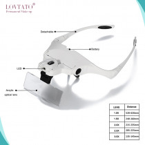 LED Head Light Magnifier microblading headlight with a magnifying glass tattoo supplies 5Pcs Lens Interchangeable Magnifiers