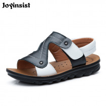 2019 Brand Summer Beach Sandals Kids Sandals boys Leather Summer Shoes Casual Sport Sandals General Leather Sandals