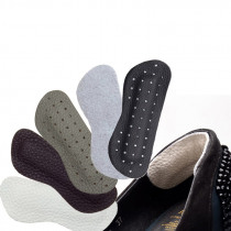 1 Pair Genuine Leather Gel Silicone Shoes Pad Insoles Women's High Heel Cushion Care Pads Foot Wear Heel Pad Cushion Foot Wear