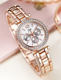 High Quality Quartz Watches Women Luxury Brand 2019 Famous Rose Gold Stainless Steel Wristwatches For Women Casual Dress Watch