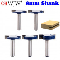 1pcs 8mm Shank T Type Bit With Bearing router bit set woodworking router bits router bits woodworking