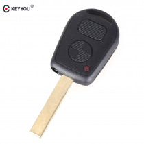 KEYYOU 2 Buttons Car Key Case Shell Cover Remote Blank Key Replacement For BMW E38 E39 E36 Z3
