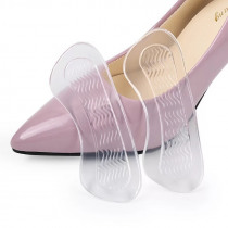 1 Pair High Quality Silicone Transparent Heel Pad High-heels heel insole women's Heel Protection Pad HT-6