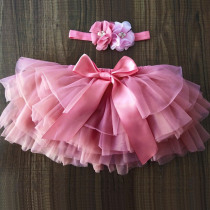 NewbornBaby Girls Tutu 2pcs Skirt Fluffy Children Ballet Kids  Baby Girl Skirts Princess toddler Tulle Party Dance Skirts