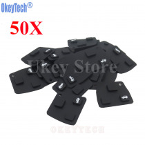 OkeyTech 50PCS/LOT Car Remote Key Silicone Rubber Key Pad 3 Button For Toyota Avensis Corolla Lexus RVA4 Replacement Button Pad
