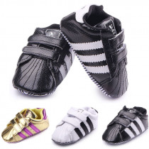 2018 New Baby Toddler Shoes Newborn Baby Boys Girls First Walkers Stripe PVC Soft Bottom Shoes Non-slip Footwear Infant Shoes