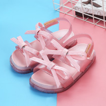 Girls Jelly Sandals 2 Layers Bow 2019 Summer New Children Sandals Cute Non-slip Girls Candy Colors Soft Princess Sandals