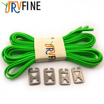 1 Pair Green Fashion Shoelaces Polyester No Tie Elastic Shoe Laces for Sneakers Adult Kids Running Shorts Shoelace Flat Buckle