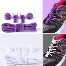 1 Set 100cm Colorful Round Elastic Cord Shoelace Spring Fastener No Tie Strings For Adults Kids