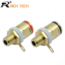 1pair High quality Copper Gold plated Connector Speaker banana plug BINDING POST terminal banana socket for Speaker Amplifier
