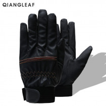QIANGLEAF Brand Anti-slip Working Gloves Unisex Outdoor Safety Cycling Work Gloves Breathable Black High Quality Riding 2600