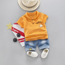 Boys Baby Clothing Cotton Summer Clothes Sets For Boy 2019 New Children Letter Short Sleeve Jeans Kids Suits Costume