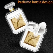 Lovers Coco Perfume bottle airpods Case Transparent airpod case TWS earphone cover headphones case for air pods apple keyring