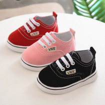 Infant Toddler Baby Boy Girl Spring Autumn Soft Bottom Spring Canvas Shoes Walkers Newborn to 24M