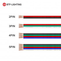 10m/20m 2pin/3pin/4pin/5pin 22AWG/20AWG/18AWG led wire Cable For WS2812 WS2811, 5050 LED strip Light