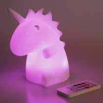 7 Colors Changing Unicorn LED Night Light Silicone Unicorn Colorful Charging Remote Control Lamp Cartoon Kids Bedroom Toy Gift