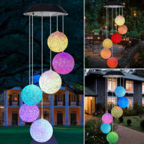 Solar Powered Wind Chime Light LED Garden Hanging Spinner Lamp Color Changing Solar Powered Solar Color Changing Wind Chime Ligh