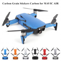 Waterproof PVC Carbon Grain Graphic Stickers Full Set Skin Decals for DJI MAVIC AIR Drone body&Arm&Battery&Controller