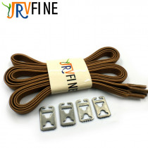 YJRVFINE 1 Pair Brown Elastic Polyester Rubber Shoelaces Fashion Shoelace Elastic Flat Shoe Laces for All Sneakers Shoe Rope