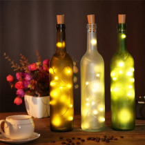 Wine Bottle Lights with Cork 20 LED Silver Copper Wire Garland Fairy String Lights for DIY Party Christmas Wedding home decor