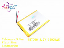 Liter energy battery 357090 3.7V 3500mAh Lithium polymer Battery with Protection Board For Tablet PC U25GT
