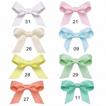 8PCS/Lot Girls Hair Clips Baby Kids Hair Pin Ribbon Bow Hair Accessories Wave Solid by Head Ornaments Hairpin