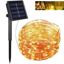 Solar Powered LED String Lights 8 Modes 200 LED Xmas Copper Wire Starry Fairy Lights Outdoor Waterproof Decorative Lighting
