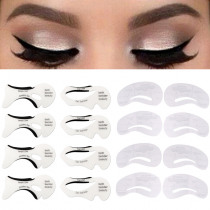 6pcs Pro Eyeliner Eyebrow Stencil Set Eye Brow DIY Drawing Guide Styling Shaping Grooming Template Card Easy Makeup Beauty Kit