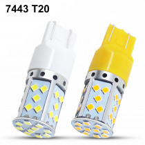 1pc T20 7443 LED 35 SMD 3030 LED Bulbs White Amber Yellow For Car Auto Reverse Lights Turn Signal Stop Tail Lights Lamp 9-30V