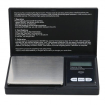 Precision Digital LCD Display Scales 200g/100g x 0.01g Reloading Powder Grain Jewelry Carat Black  Balance Gram Electronic Scale