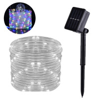 Solar Power Tube Lamp LED String Light Outdoor Garden Party Yard 2V 100mA Dcor 3V