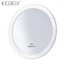 Magnifying Round Mirror Make Up Folding Pocket Cosmetic Mirror  Compact  Cosmetics Tools Mirror With 3 Suction Cups 5.9 Inch