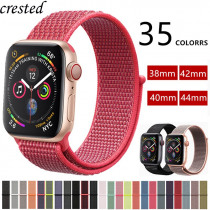 Strap For Apple Watch band 42mm 44mm iWatch band 38mm 40mm Sport Loop bracelet correa Nylon Watchband For Apple watch 4 3 2 1