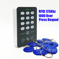 2019 New 125khz RFID Proximity Card Access Control System RFID/EM Keypad Card Access Controller Door Opener Master Controller