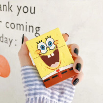 for AirPods 2 Wireless Charging Box Headphone Cases Bag Cover Cartoon Spongebob Earphone Accessories Soft Case For Apple AirPods