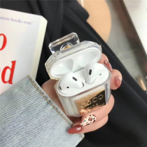 Luxury Perfume bottle Silicone Case For Airpods TWS i10 Earphone Protective Case Shockproof Soft TPU Case For Apple