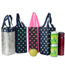 IVYYE Pure Color Fashion Portable  Lunch Bags Cartoon Water Bottle Bag Bottles Tote Warm Storage Women Girls New