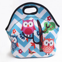 Thermal Insulated Print Neoprene Lunch Bag for Women Kids Lunch Bags Cooler Insulation Lunch Box Food Bag