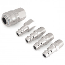 "5pcs Mayitr Air Line Hose Compressor Connector 1/4"" BSP Thread Quick Release Set Euro Fittings"
