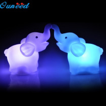 Ouneed New 2Pcs Elephant Color Changing LED Night Light Lamp Wedding Party Decorative