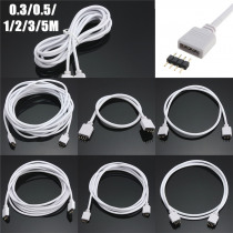 30/50/100/200/300cm RGB 4Pin Female Extension Wire Cable Cord Connector LED Strip Light And Male Plug Light bar extension Wire