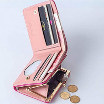 bags for women 2019 Wallet mini purse Women Fashion Short Style Student Card Multi-function Folding Coin Purse bag leather @