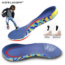 KOTLIKOFF 3D Deep Heel Orthotic Insoles Children Flat Feet Arch Support Insoles for O/X-Legs Orthotic Orthopedic Shoe Inserts